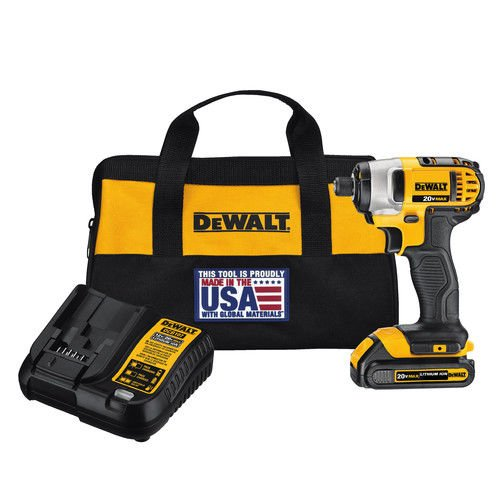 Dewalt DCF885C1R 20V MAX 1.5 Ah Cordless Lithium-Ion 1/4 in. Impact Driver Kit (Certified Refurbished)