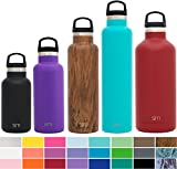 kids sports bottle insulated - Simple Modern 12 oz Ascent Kid's Water Bottle - Vacuum Insulated Standard Mouth Spill Proof 18/8 Stainless Steel Black Swell Flask - Double Wall Hydro Travel Mug - Midnight Black