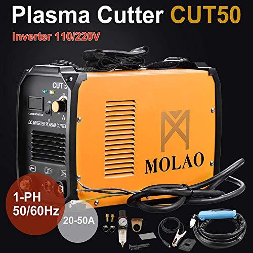 SUNCOO Cut-50 Plasma Cutter Electric DC Inverter Cutting Machine with Digital Display Dual Voltage 110/220V, 1/2'' Clean Cut by SUNCOO (Image #3)