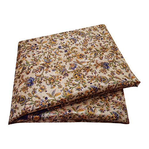 Peegli Vintage Indian Floral Printed Sari Orange Nylon Silk DIY Used Craft Fabric Women Stylish Saree
