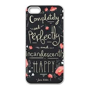 Uno de mis favoritos Jane Austen Cotizaciones ~ I T8N03H3UM funda iPhone 4 4s Funda Caso de la cubierta RR85JG blanco