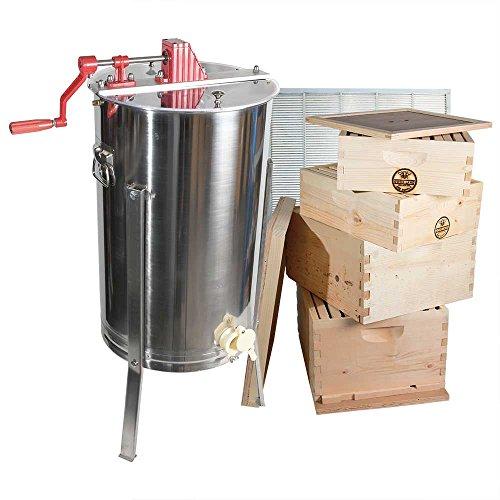 GoodLand Bee Supply 2 Frame Honey Extractor, 2 Brood Boxe...
