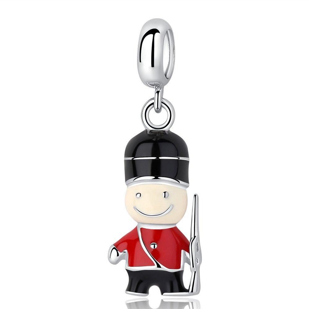 Argent sterling 925/Perle charm London m/énagers gardes Charms Fit Bracelets