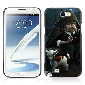 YOYOSHOP [Funny Witch & Goat Illustration] Samsung Galaxy Note 2 Case