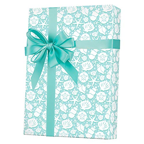 (Coastal Seashells Gift Wrapping Paper Roll - 24