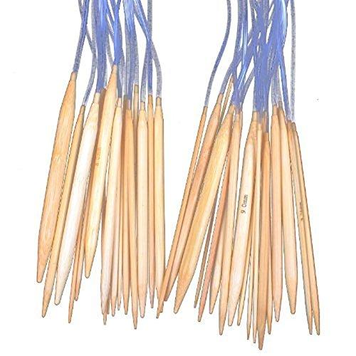 (Zehui 18 Sizes 16`` (40cm) Circular Bamboo Knitting Needles Set Kit(2.0mm to 10mm))