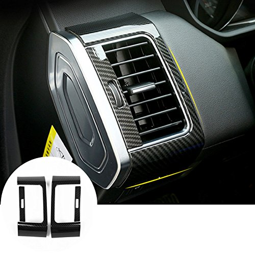 Carbon Fiber Style Dashboard Side Air Vent Trim Cover for Land Rover Range Rover Sport 2014-2018