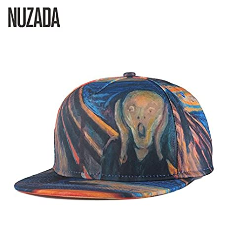 c792be05e11 Buy Generic Brands NUZADA Color Painting Porch Skull Spring Summer Men  Women Hat Hats Baseball Cap Hip Hop Snapback Caps jt-008 Online at Low  Prices in ...