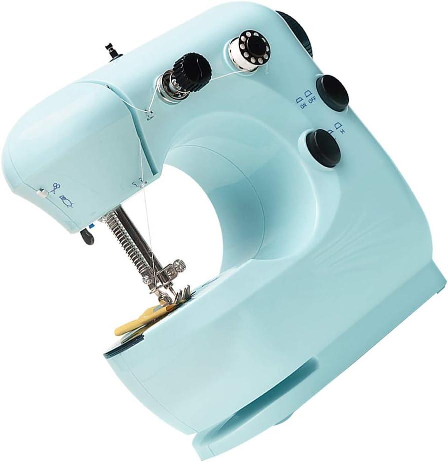 Boyouu Mini Electric Sewing Machine Portable Household Sewing Machine Beginner Tailors Free-Arm Crafting Mending Machine