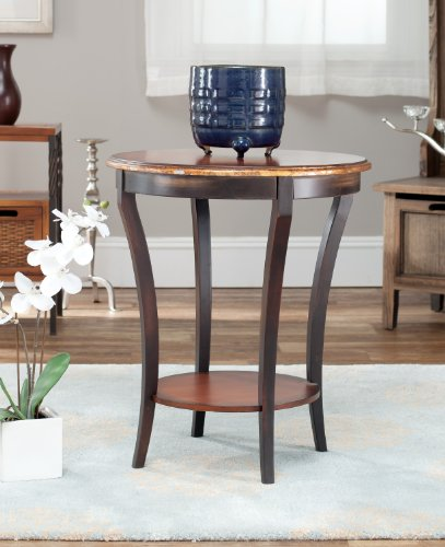 Safavieh American Homes Collection Dereham Dark Brown Round End Table