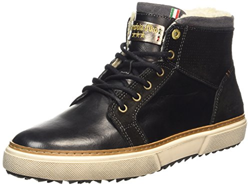 d'Oro Sneakers Black Mid Hohe FUR Pantofola Herren BENEVENTO Schwarz dOA7qd8Y