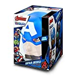 Captain America Official Illumi-Mates Bedside Lamp (One Size) (Multicolor)