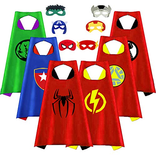 Superhero Capes for Kids, Party Favors for Boys Toddlers Costumes Party Supplies Reversible for Boys Girls Dress up Gifts for 3-12 Year Old Boys Toys for 3-10 Year Old Boys Girls ()