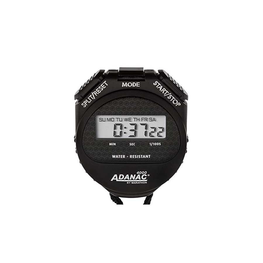 MARATHON Adanac 4000 Digital Stopwatch Timer with Extra Large Display and Buttons, Water Resistant, One Year Warranty
