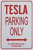 TESLA PARKING ONLY - Miniature Fun Parking Signs