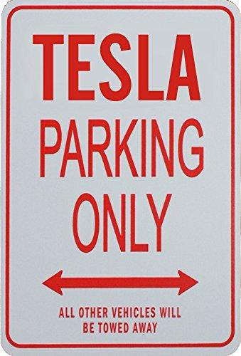 TESLA Parking Only Sign funparkingsigns NPS-TESLA