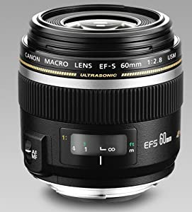 Canon EF-S 60mm f/2.8 Macro USM Fixed Lens for Canon SLR Cameras from Canon
