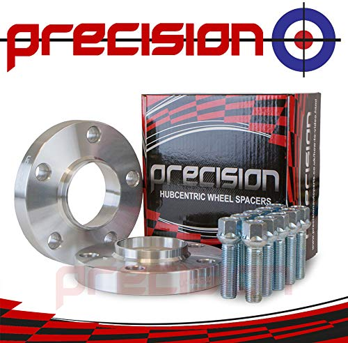Precision 1 Pair of Hubcentric 20mm Wheel Spacers with Bolts for /Àudi A4 B8//B9 PN.SFP-2PH21+10BM1445R111