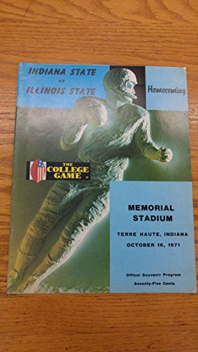 Indiana State vs Illinois State Memorial Stadium 1971 Vintage Program J39155