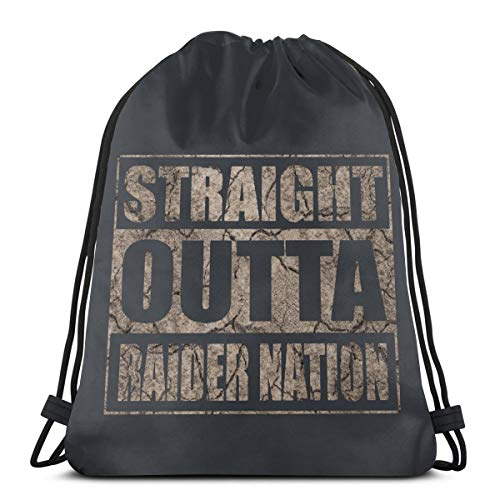 - Adam B George8 Unisex Straight Outta Raider Nation Fitness Long Lasting Drawstring Bag Backpack