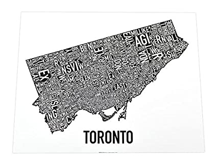 Toronto neighborhoods map black