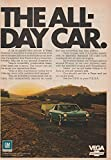 1971 CHEVROLET VEGA HATCHBACK COUPE ' The All-Day Car ' VINTAGE COLOR AD - USA - GREAT ORIGINAL !!