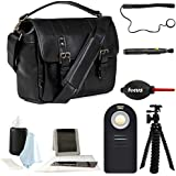 Ona Handcrafted Italian LeatherPrince Street DSLR Camera Bag, Black & Photographer039;s Accessory Kit