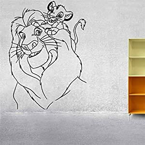 Vinilo Tatuajes de Pared Sticker Decor Nursery Simba Mufasa Wall ...