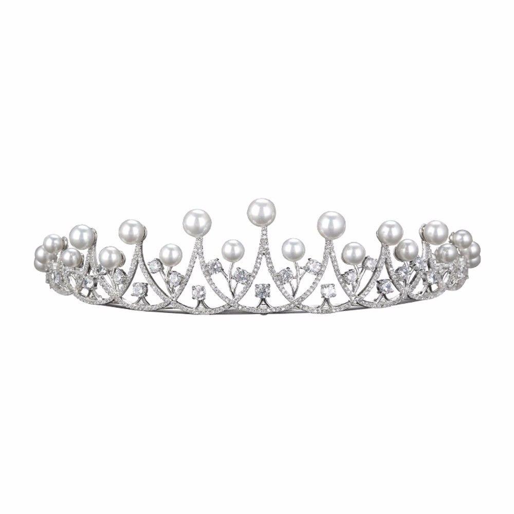 Bride headwear threepiece suit crown necklace earrings wedding dress jewelry Korean wedding wedding hair accessories