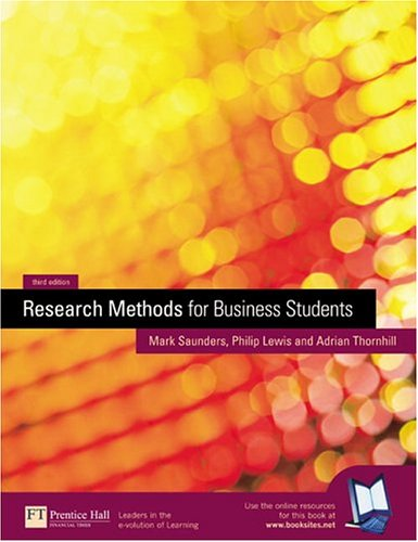 Research Methods for Business Students (3rd Edition)