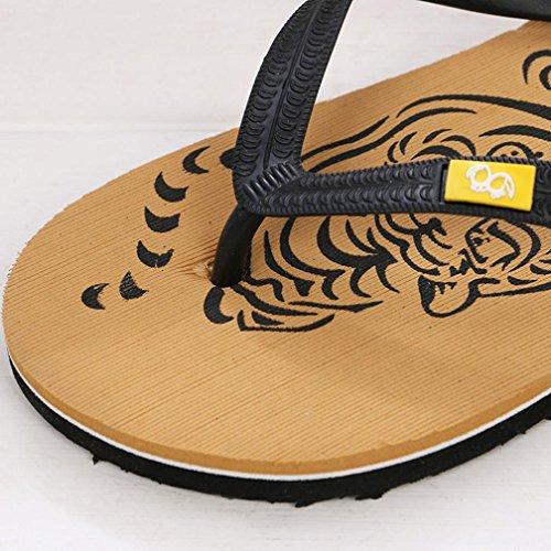 Chanclas de Hombre-SHOBDW Sandalias de Hombre de Verano de playa Havaianas Amarillo