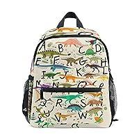 Toprint Backpack Education Alphabet Letter Dinosaur Shoulder Travel Bag