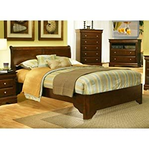 Alpine Furniture Chesapeake Sleigh Bed, California King Size