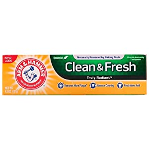 Arm & Hammer Truly Radiant Clean and Fresh Fluoride Toothpaste, Spearmint, 4.3 Ounce (Pack of 3)