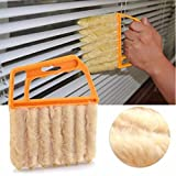 Lazynice Mini-Blind Window Cleaner Shutters Duster Remover Brush With 7pcs Cloth For Cleaning Air Conditioner Windows, Air Purifier, Humidifier, Purifiers Dehumidifiers Cooling Fan For Household Office