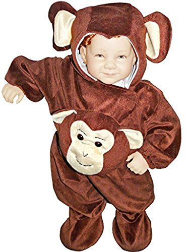 Monkey Infant Flying Costume (Fantasy World Monkey Halloween Costume f. Children/Boys/Girls, Size: 4t,)