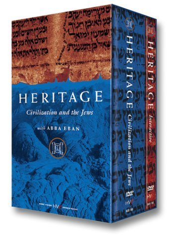 Heritage - Civilization and the Jews with Abba Eban - a Nine-Part Series On Three DVDS by HVE Home Vision Entertainment