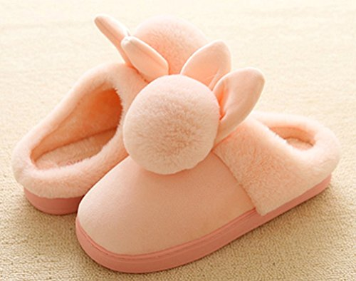 Fuzzy Warm Slippers Cattior Ladies Slippers Bunny Cute Pink Womens qStYR
