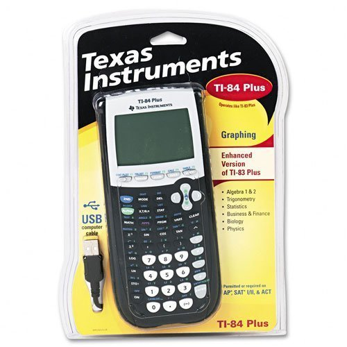 Texas Instruments : TI-84 Plus Graphing Calculator, 10-Digit LCD -:- Sold as 2 Packs of - 1 - / - Total of 2 Each by Texas Instruments by Texas Instruments