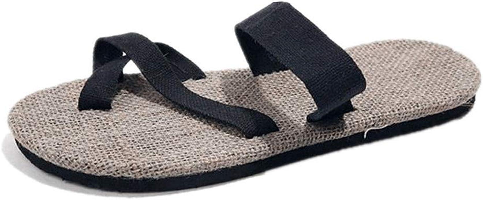 Amazon Com Men S Beach Wedding Flip Flops Vintage Thong Slides Sandals Casual Summer Mules Clogs Shoes Shoes