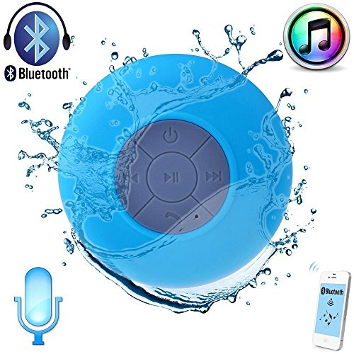 Buyit? Waterproof Wireless Bluetooth Shower Speaker Hands-free Speakerphone Compatible with All Bluetooth Devices