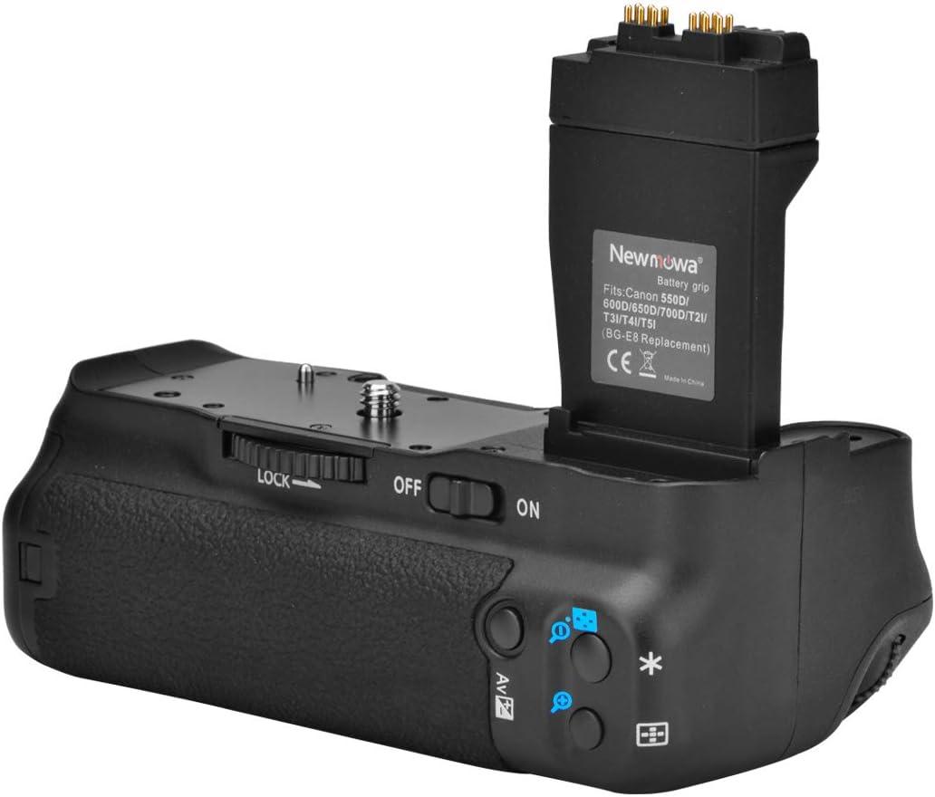 Newmowa Mango de Repuesto Battery Grip para Canon EOS 550D/600D ...