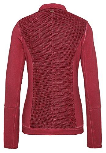 Mujer Larga Manga Deportiva Para Camisa Khujo Rojo Básico wR1xqaY8
