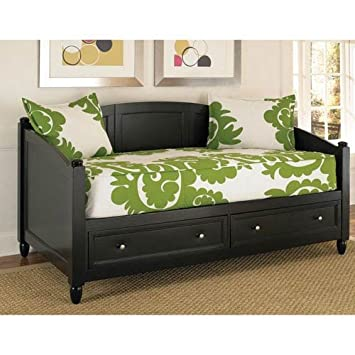 home styles bedford daybed with storage black finish