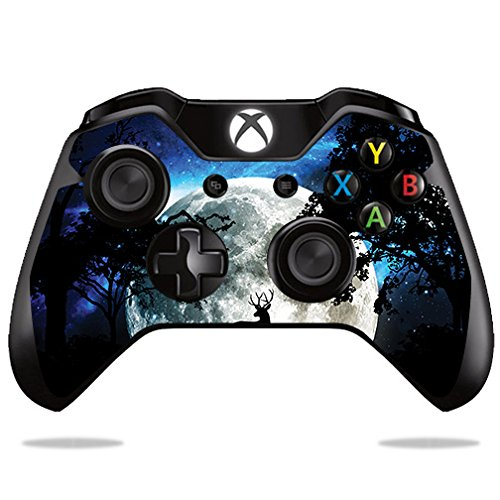 MightySkins Skin for Microsoft Xbox One or One S Controller - Moonlight Deer | Protective, Durable, and Unique Vinyl Decal wrap Cover | Easy to Apply, Remove, and Change Styles | Made in The USA
