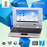 """Goldengulf 7"""" Inch Latest Pink 4.1 JellyBean Mini Android Laptop NoteBook PC NetBook Wifi"""