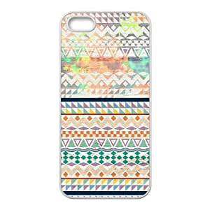 Fashion Design Custom Phone Case for Iphone 5,5S - Aztec Fashion Watercolors DIY Cover Case JZQ-912796