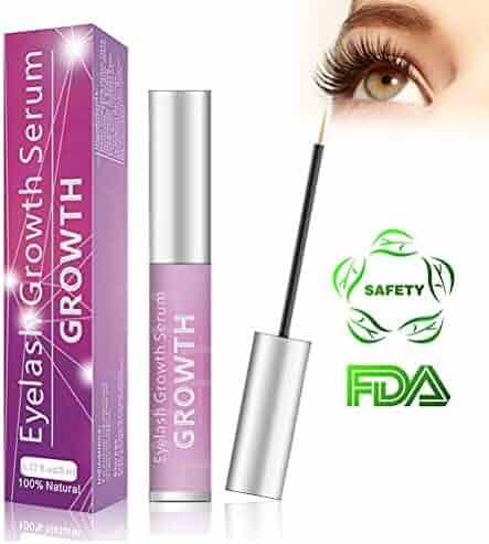 3d607765840 Eyelash Growth Serum Eyelash Booster Natural Eyebrow Lash Enhancer for  Longer Fuller Thicker Lashes - 5ml