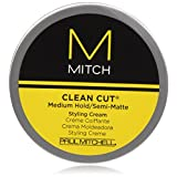 Mitch Clean Cut Medium Hold/Semi-Matte Styling Cream by Paul Mitchell for Men - 3 oz Cream