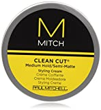 Paul Mitchell Men by Paul Mitchell Mitch Clean Cut Medium Hold/Semi-Matte Styling Cream for Men, 3 Ounce